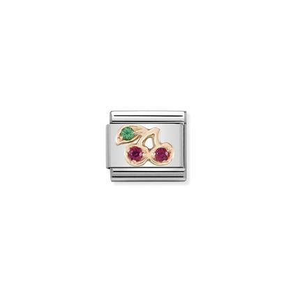 Rose Gold - Cherries Charm By Nomination Italy from Nomination only 32.00 GBP