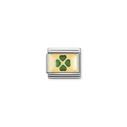 Green Four Leaf Clover charm By Nomination Italy from Nomination only 22.00 GBP