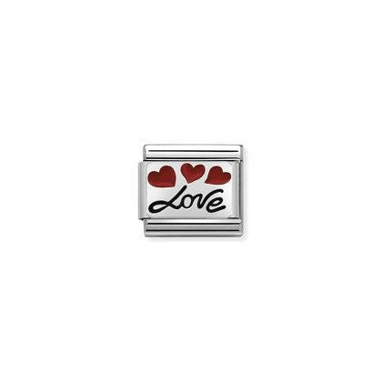 Oxidised Plates - Love With Balloons Charm By Nomination Italy from Nomination only 20.00 GBP