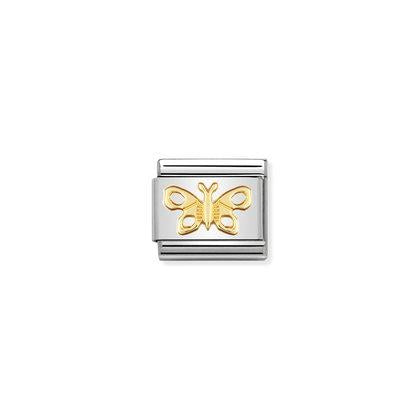 Gold Air Animals - Butterfly charm By Nomination Italy from Nomination only 20.00 GBP
