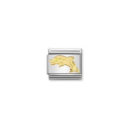 Gold Water Animals - Dolphin charm By Nomination Italy from Nomination only 18.00 GBP