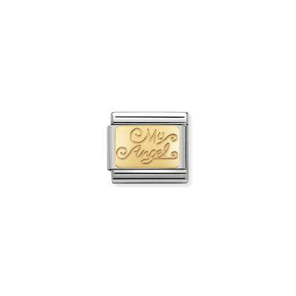 Gold Plate My Angel charm By Nomination Italy from Nomination only 22.00 GBP