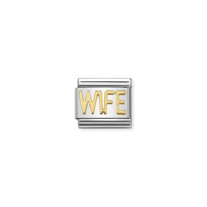 Gold Writings - Wife Charm By Nomination Italy from Nomination only 18.00 GBP