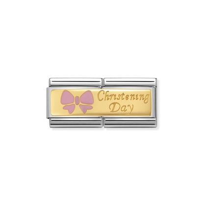 Double - Christening Day With Pink Bow charm By Nomination Italy from Nomination only 62.00 GBP