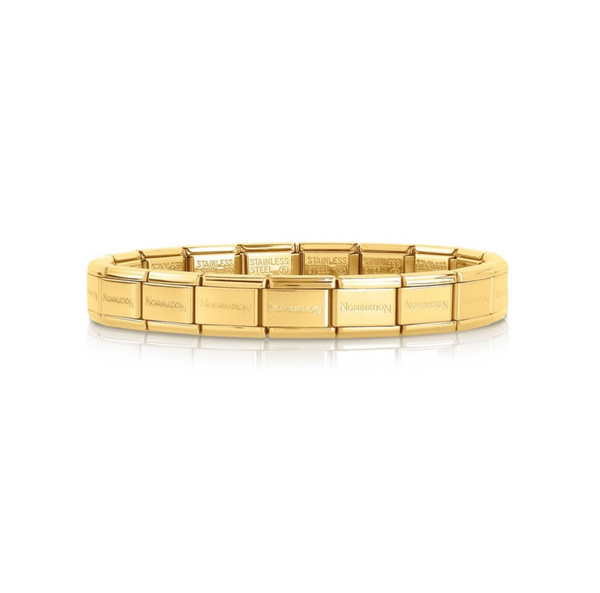 Composable classic Gold starter bracelet By Nomination Italy from Nomination only 30.00 GBP