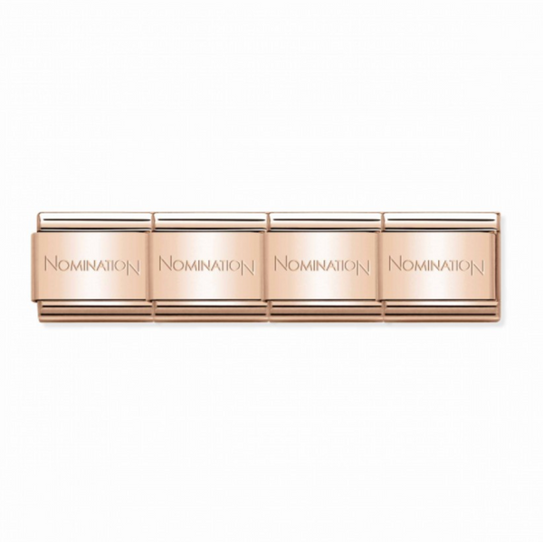 Composable classic Rose Gold starter bracelet By Nomination Italy from Nomination only 30.00 GBP
