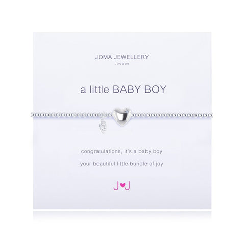 a little BABY BOY SILVER PLATED BRACELET By Joma Jewellery London - Official Stockists