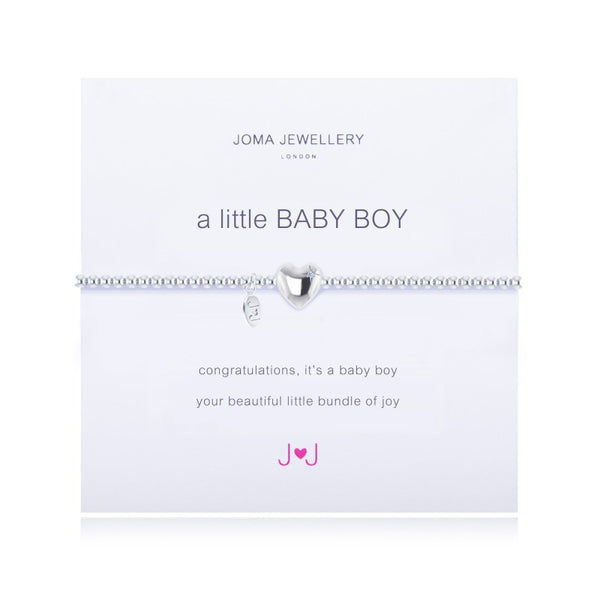 a little BABY BOY SILVER PLATED BRACELET By Joma Jewellery London - Official Stockists from Joma Jewellery only 16.50 GBP