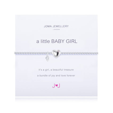 a little BABY GIRL SILVER PLATED BRACELET By Joma Jewellery London - Official Stockists