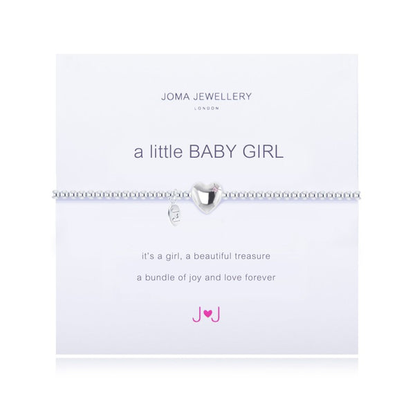 a little BABY GIRL SILVER PLATED BRACELET By Joma Jewellery London - Official Stockists from Joma Jewellery only 16.50 GBP