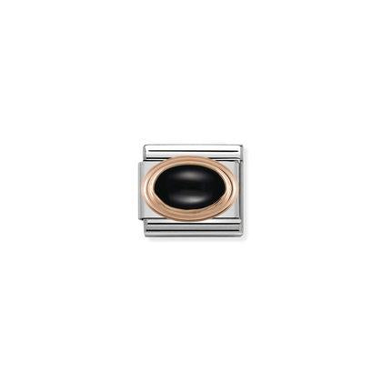 Rose Gold - Black Agate charm By Nomination Italy from Nomination only 45.00 GBP