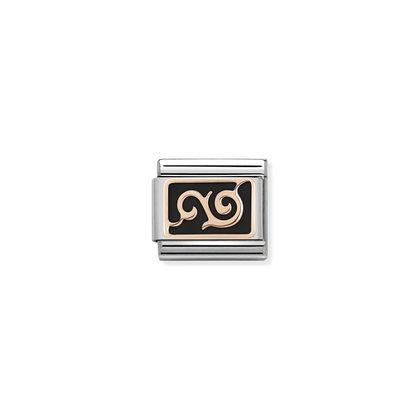 Rose Gold Enamel - Black Swirl charm By Nomination Italy from Nomination only 17.00 GBP