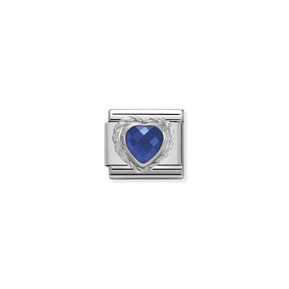 Silver Stones - Blue Heart Charm By Nomination Italy from Nomination only 20.00 GBP