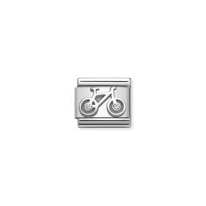 Silver & Cubic Zirconia - Bicycle charm By Nomination Italy from Nomination only 18.00 GBP