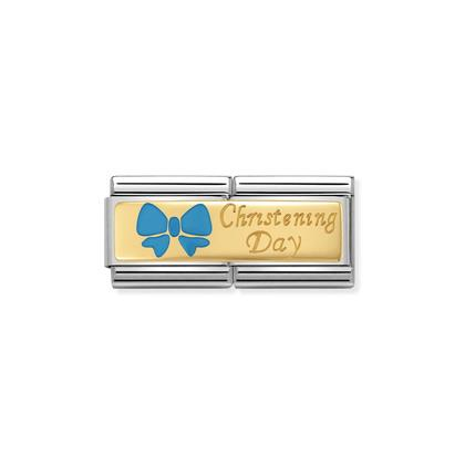 Double - Christening Day With Blue Bow charm By Nomination Italy from Nomination only 62.00 GBP