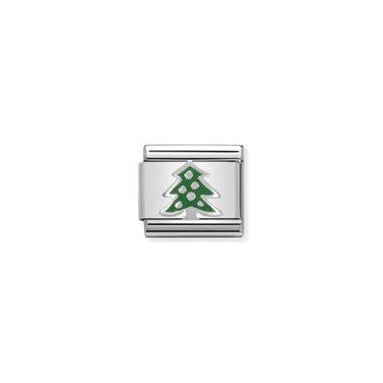 Nomination Charm - Green Christmas Tree