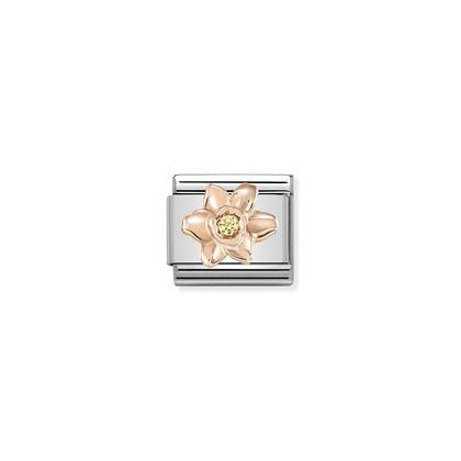 Rose Gold - Daffodil With Yellow CZ charm By Nomination Italy from Nomination only 32.00 GBP