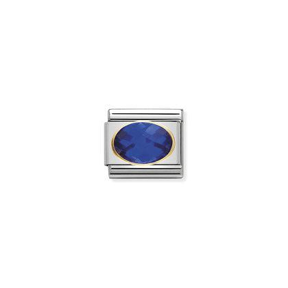 Gold Cubic Zirconia - Dark Blue from Nomination only 27.00 GBP