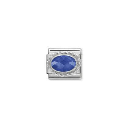 Silver Faceted Stones - Blue Charm By Nomination Italy from Nomination only 20.00 GBP