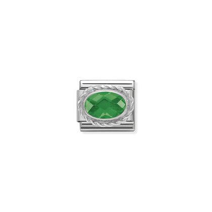 Faceted Silver Stones - Emerald GreenCharm By Nomination Italy from Nomination only 20.00 GBP