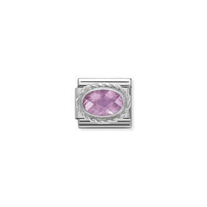 Faceted Silver Stones - Pink Charm By Nomination Italy from Nomination only 22.00 GBP