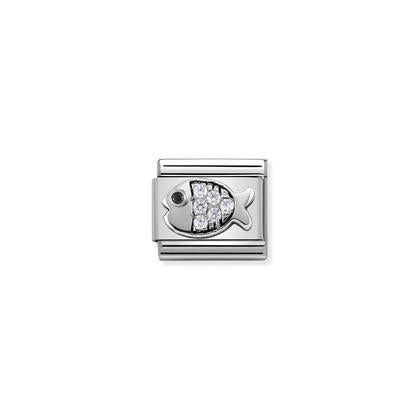 Silver & Cubic Zirconia Fish charm By Nomination Italy from Nomination only 27.00 GBP