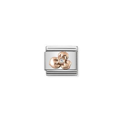 Rose Gold - Flower With CZ charm By Nomination Italy from Nomination only 32.00 GBP