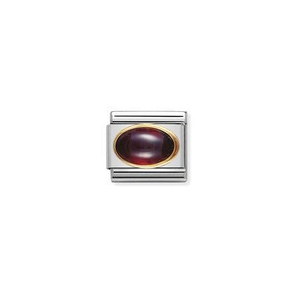 Gold Oval Stones - Garnet Charm By Nomination Italy from Nomination only 27.00 GBP
