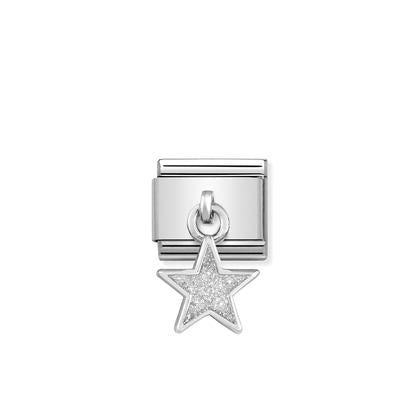 Enamel Dangle - Silver Star charm By Nomination Italy from Nomination only 25.00 GBP