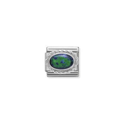 Silver Stones - Green OpalCharm By Nomination Italy from Nomination only 20.00 GBP