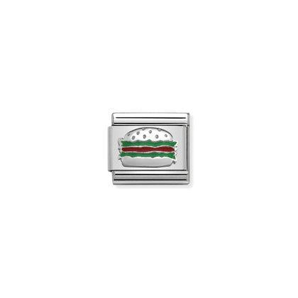 Silver Enamel - Hamburger charm By Nomination Italy from Nomination only 16.00 GBP