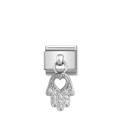 Silver - Hand Of Fatima Charm charm By Nomination Italy from Nomination only 36.00 GBP