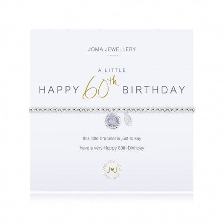 Happy 60th birthday Joma bracelet from Joma Jewellery only 16.50 GBP