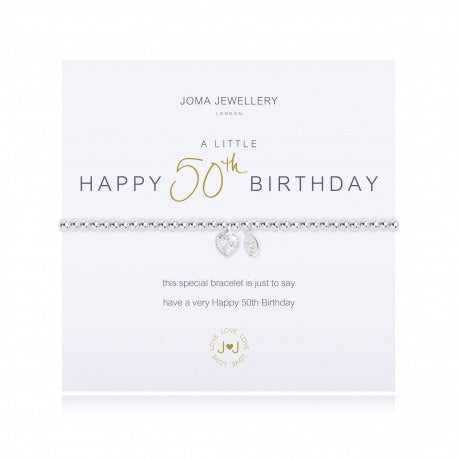 Happy 50th birthday Joma bracelet from Joma Jewellery only 15.99 GBP