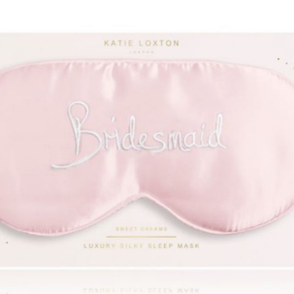 Bridesmaid eye mask from Katie Loxton only 14.99 GBP