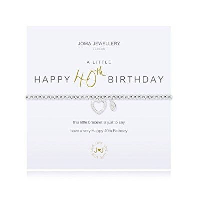 Happy 40th birthday Joma bracelet from Joma Jewellery only 17.50 GBP