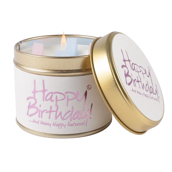Happy birthday scented candle from Lily flame candles only 8.95 GBP