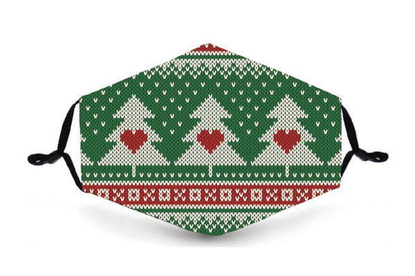 Festive Reusable Mask - Christmas Trees - Buy any 3 and get a 4th FREE