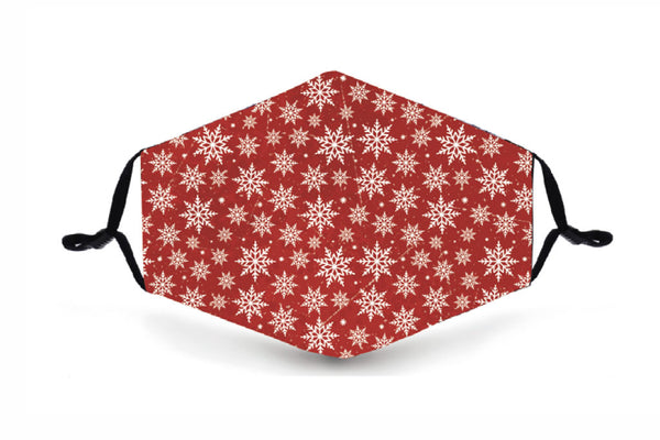 Festive Reusable Face Mask - Snowflakes - Buy any 3 and get a 4th FREE