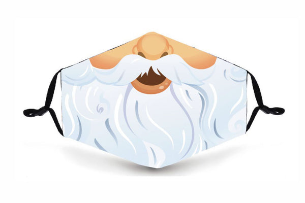 Festive Reusable Face  Mask - Santa - Buy any 3 and get a 4th FREE