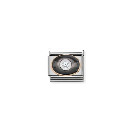 Rose Gold - Black Mother Of Pearl Charm By Nomination Italy from Nomination only 22.00 GBP