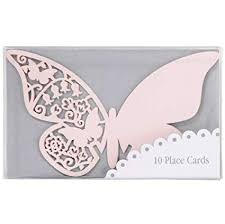 Place Name Cards - Pink Butterflies