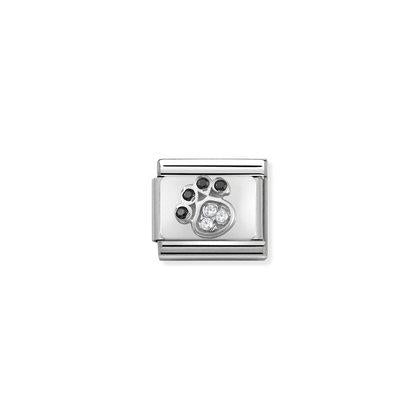 Silver & Cubic Zirconia - Paw Print Charm By Nomination Italy from Nomination only 27.00 GBP