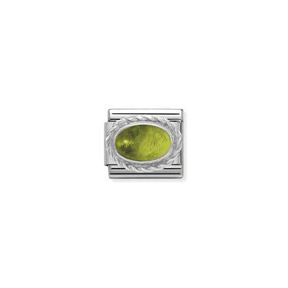 Silver Stones - PeridotCharm By Nomination Italy from Nomination only 20.00 GBP