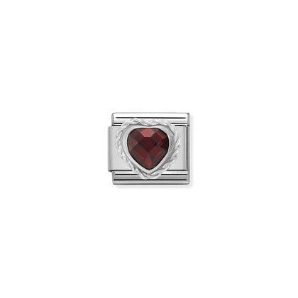 Silver Stones - Red Heart Charm By Nomination Italy from Nomination only 20.00 GBP