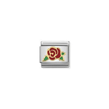 Red Rose Charm By Nomination Italy from Nomination only 22.00 GBP