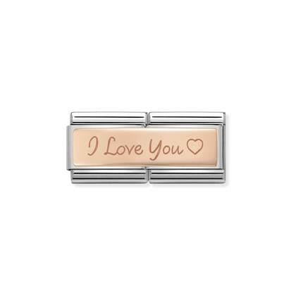 Rose Gold Double - I Love You charm By Nomination Italy from Nomination only 36.00 GBP
