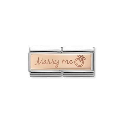 Rose Gold Double - Marry Me charm By Nomination Italy from Nomination only 39.00 GBP