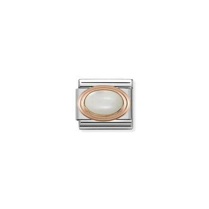 Rose Gold - White Mother Of Pearl charm By Nomination Italy from Nomination only 45.00 GBP
