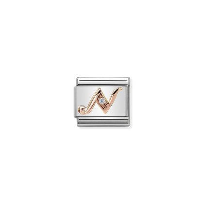 Rose Gold - Letter N charm By Nomination Italy from Nomination only 27.00 GBP